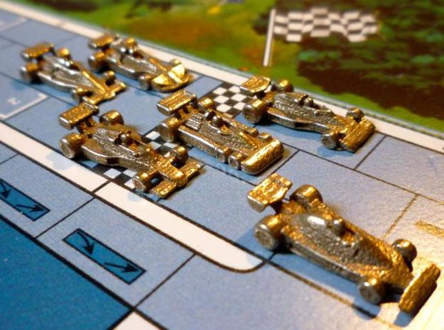 Formula 1 Miniatures - 1976 in Polished Bronzed Silver Steel