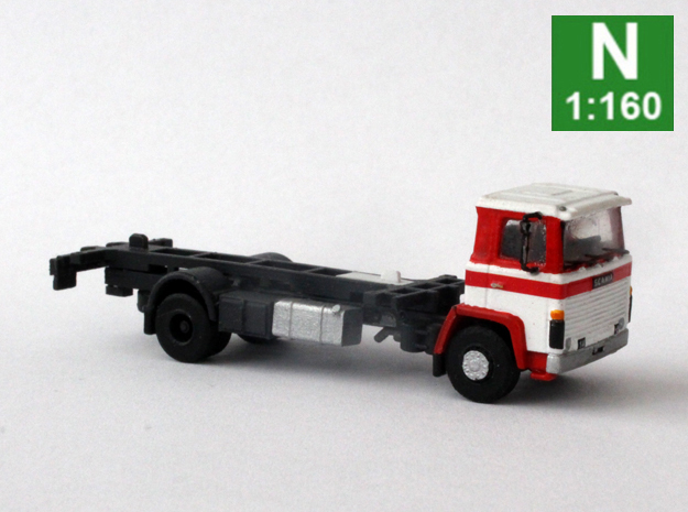Scania 141 chassis daycab (1:160 scale) in Smoothest Fine Detail Plastic