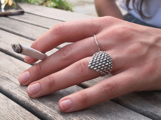 Dragonscales Ring Silver