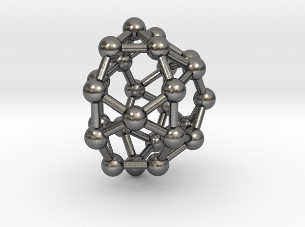 0811 J32 Pentagonal Orthocupolarotunda (a=1cm) #3 in Polished Nickel Steel