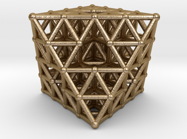 Octahedron fractal  in Polished Gold Steel