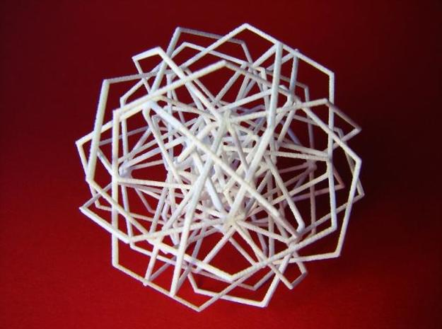 Thirty Interwoven Hexagons Formalbs 7 in White Strong & Flexible