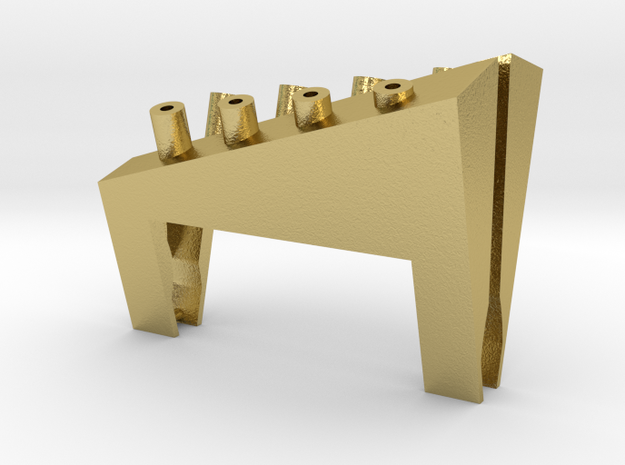 Valve Chest Insert for Accucraft W&L No. 14 in Natural Brass