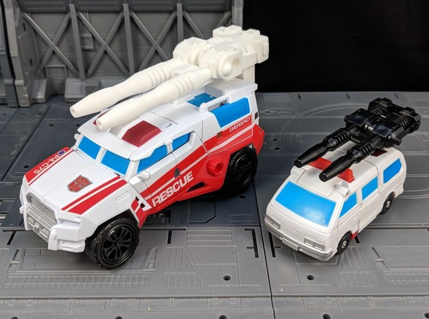 TF CW First Aid XL Car Cannon in White Natural Versatile Plastic