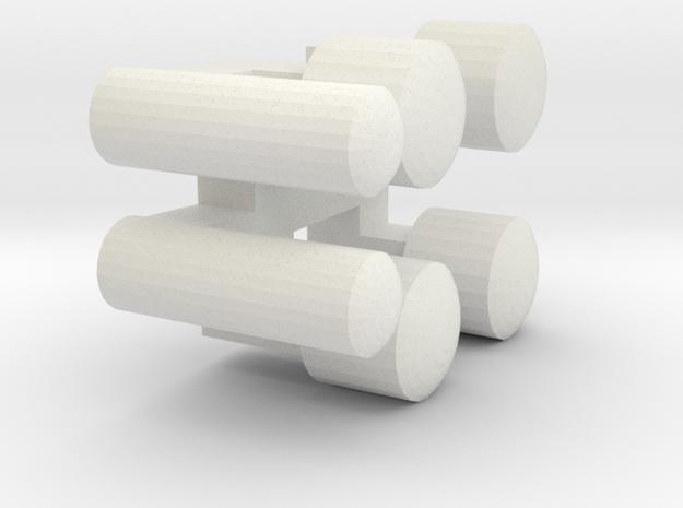 UBL1 Wiener Linien Lichtnägel in White Natural Versatile Plastic