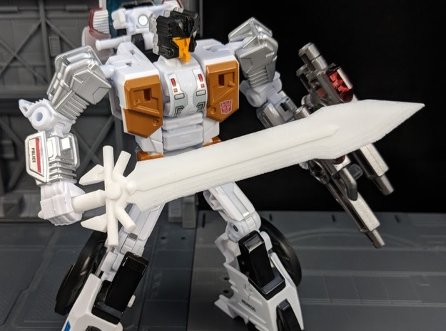 Ultima Sword for Deluxe Class Transformers in White Natural Versatile Plastic