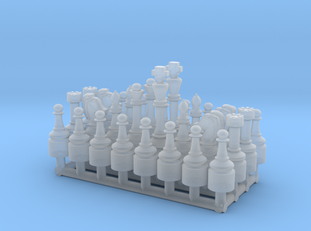 1/24 Scale Chess Pieces Sprue (Full Set) in Smooth Fine Detail Plastic