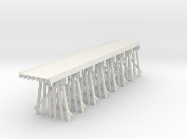 Part C Deck Trestle N (1:160) Modular Six Piles in White Natural Versatile Plastic