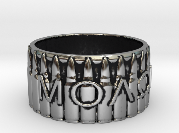 MOLON LABE, Come And Take Them, Ring Size 9 in Antique Silver