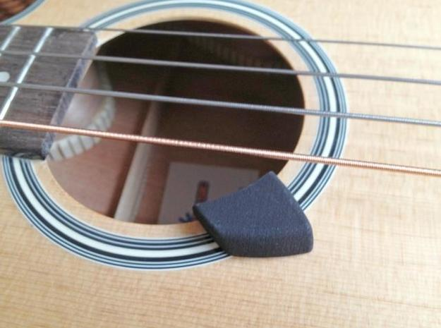 Acoustic Bass Guitar Thumb Rest in White Natural Versatile Plastic