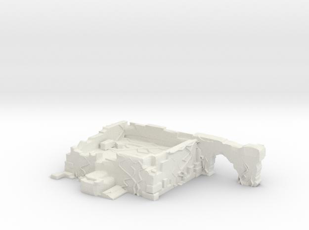 Jungle Ruin - Corner in White Natural Versatile Plastic