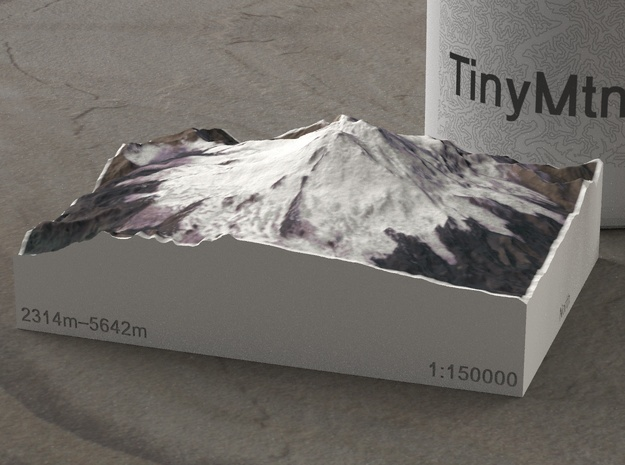 Mt. Elbrus, Russia, 1:150000 Explorer in Full Color Sandstone