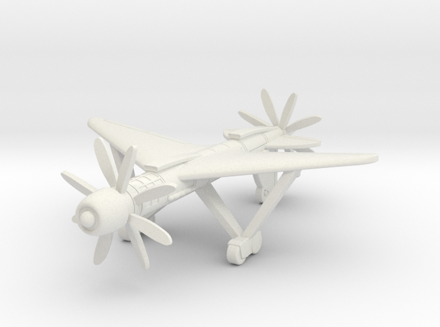 (1:144) Daimler-Benz Schnellstbomber in White Natural Versatile Plastic