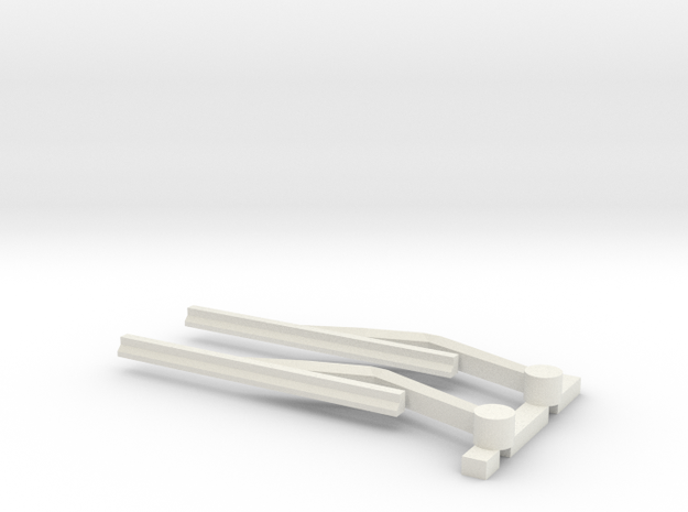 JaBird RC 1/10 Scale Windshield Wipers in White Natural Versatile Plastic