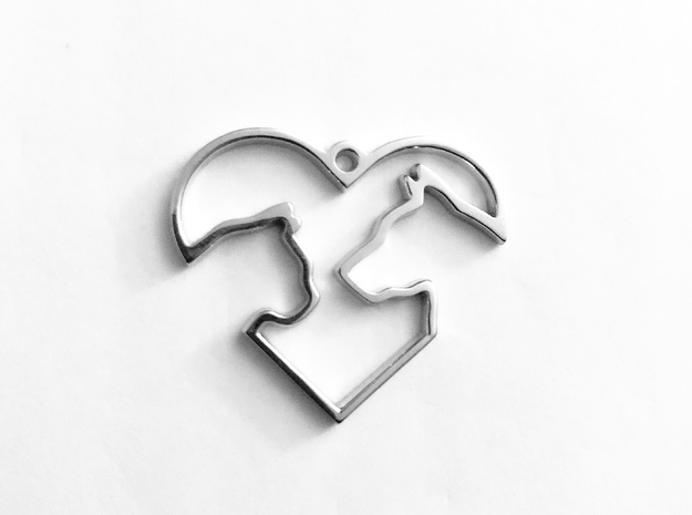 Share the Love in Rhodium Plated Brass