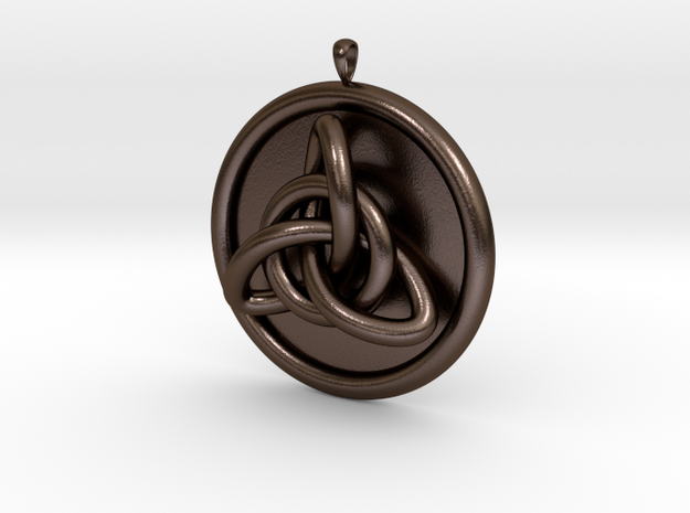 Celtic knot in Polished Bronze Steel