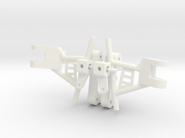 tbb009-02 Tyco Bandit Ampro Control Arm Parts in White Processed Versatile Plastic