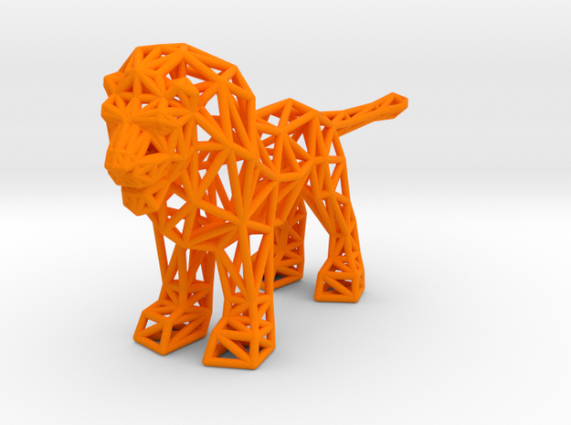 Lion (adult male) in Orange Processed Versatile Plastic