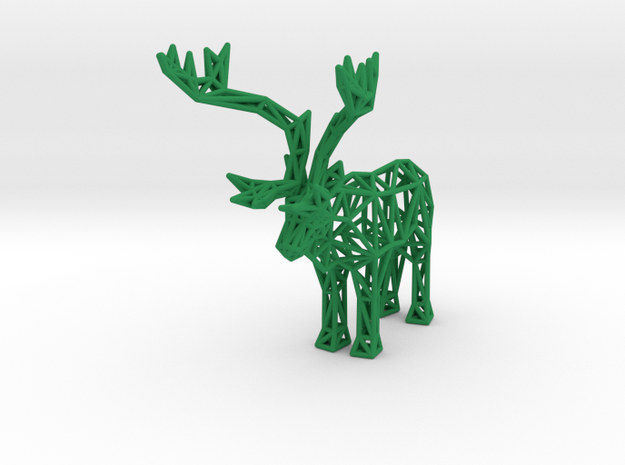 Caribou (adult male) in Green Processed Versatile Plastic