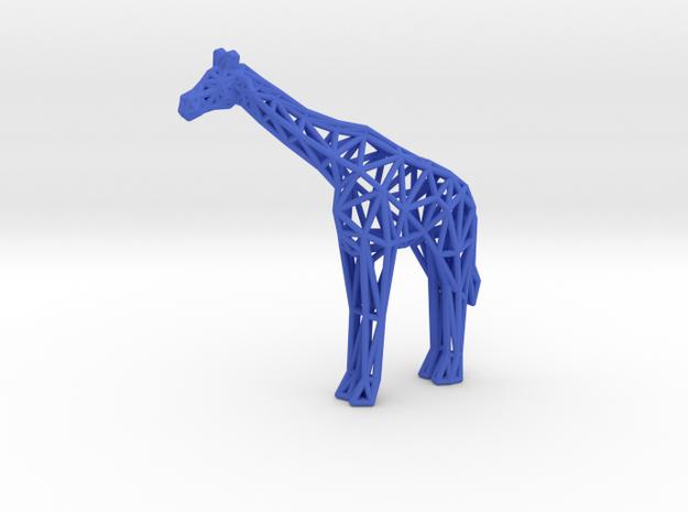 Masai Giraffe in Blue Processed Versatile Plastic