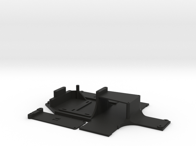 ta02/ff Custom Chassis. Lipo Compatible. in Black Natural Versatile Plastic