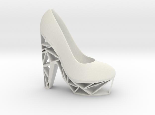 Right Triangle Heel in White Natural Versatile Plastic