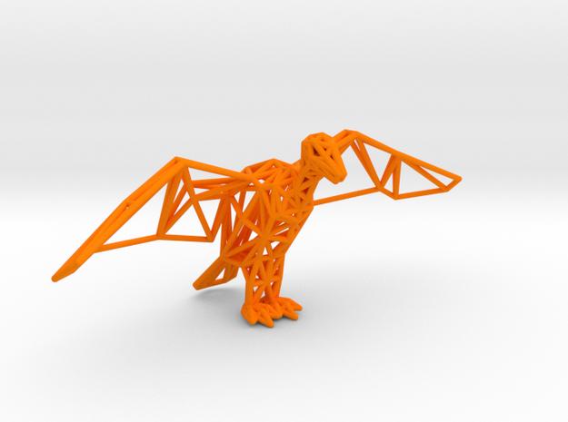 Vulture king in Orange Processed Versatile Plastic