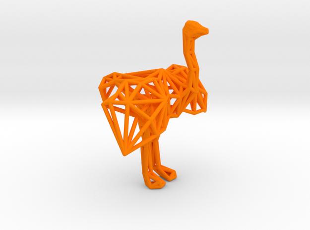Ostrich (male adult) in Orange Processed Versatile Plastic