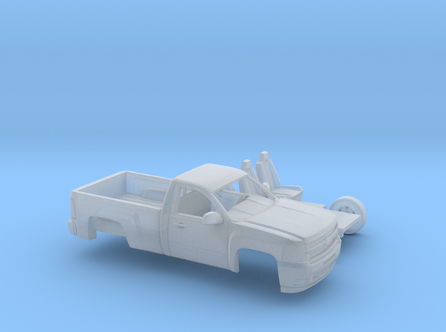 1/87 2007-13 Chevy Silverado RegCab Short Bed in Smooth Fine Detail Plastic