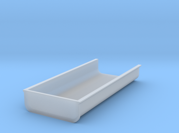 Flache Mulde H=16,6mm B=49,8mm in Smooth Fine Detail Plastic