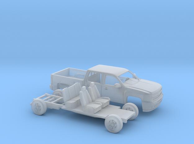 1/160 2007-13 Chevy Silverado CrewCab ShortBed Kit in Smooth Fine Detail Plastic