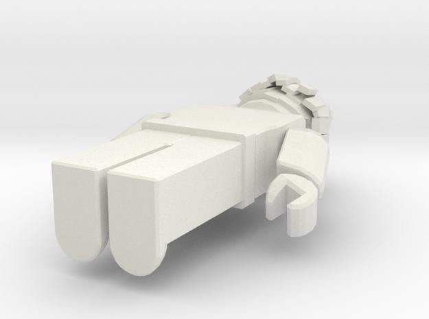 BACON in White Natural Versatile Plastic: Medium