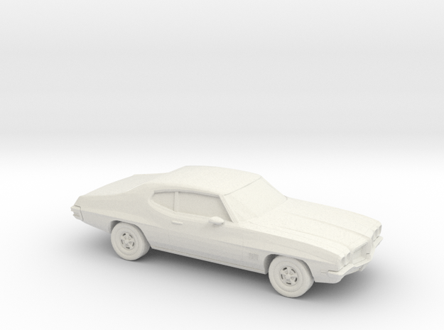 1/87 1968-72 Pontiac Le Mans Coupe in White Natural Versatile Plastic