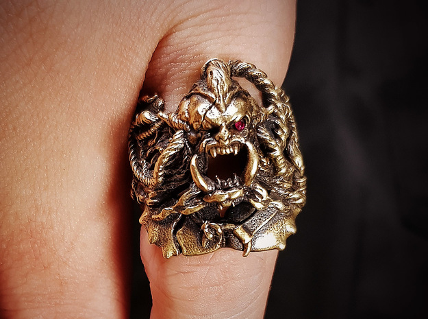Orc: Berserker Ring in Natural Silver: 9 / 59