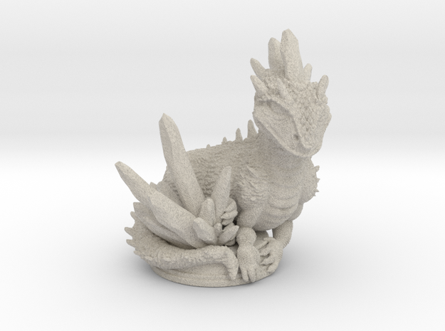 Crystal Dragon 54mm in Natural Sandstone