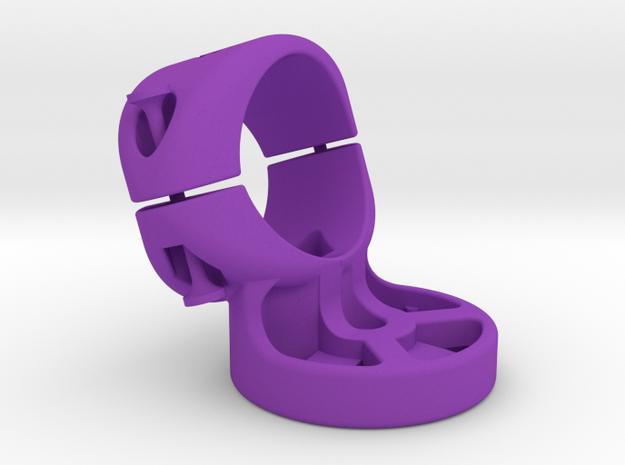 27.2 mm Garmin Varia/Edge Mount in Purple Processed Versatile Plastic