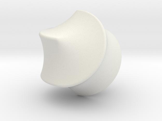 Hexasphicon Sloped in White Natural Versatile Plastic