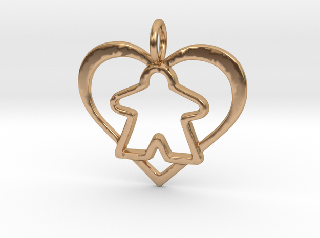 Meeple Pendant - precious in Polished Bronze