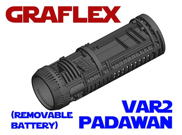 Graflex Padawan Var2 - Lightsaber Chassis  in White Natural Versatile Plastic