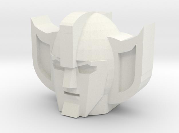 Yellow Lambo Head in White Natural Versatile Plastic