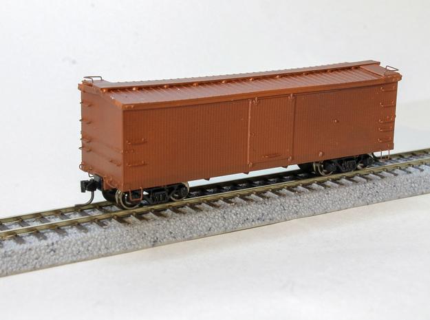 "CS Type III 10"" Murphy Roof Box Car HOn3 in Smooth Fine Detail Plastic"