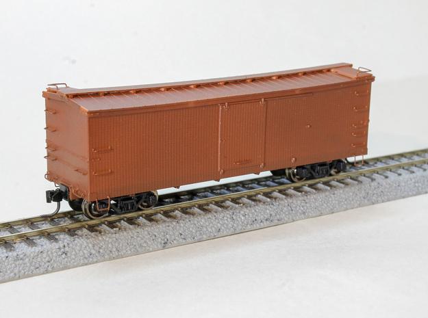 "CS Type III 12"" Murphy Roof Box Car HOn3 in Smooth Fine Detail Plastic"