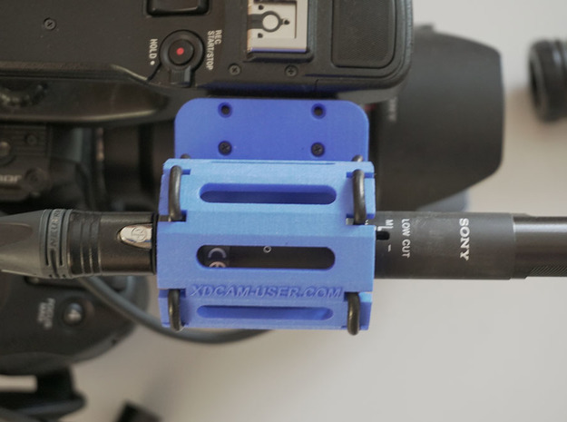 Microphone holder for the Sony PXW-FS5 and PXW-FS5 in Black Natural Versatile Plastic
