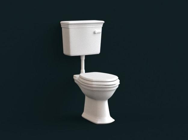 1:39 Scale Model - Flush Toilet 01 in White Natural Versatile Plastic