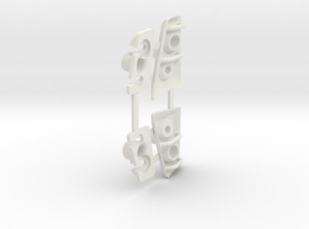 Tactical Unit Headlight Buckets in White Natural Versatile Plastic