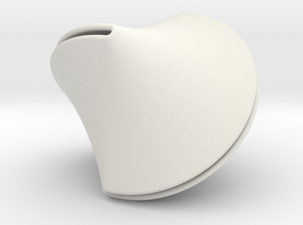 Sloped Sphericon Large & Hollow in White Natural Versatile Plastic