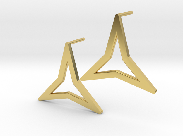 Triangoli in Polished Brass