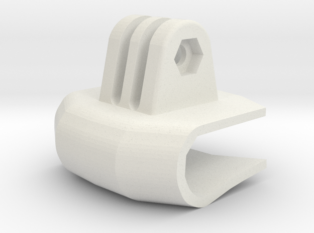 Front Go Pro Clamp For Electric Skateboards And Lo in White Natural Versatile Plastic