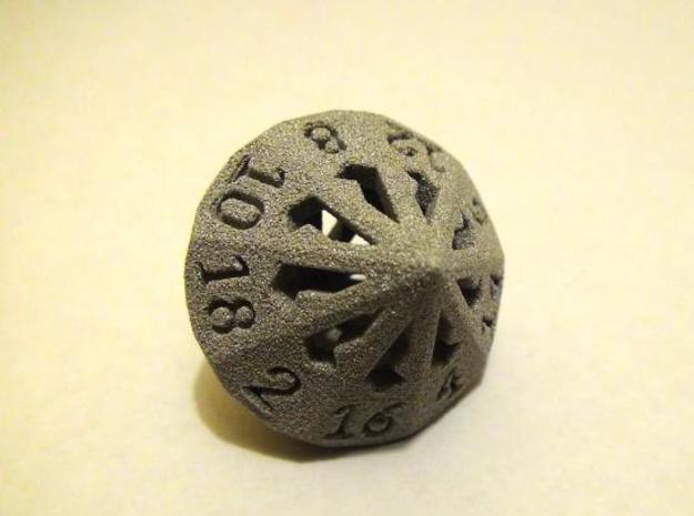18 Sided Die - Large in White Strong & Flexible