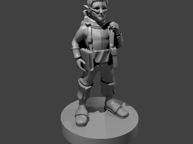 Gnome Wizard 3 in Smooth Fine Detail Plastic